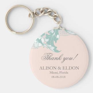 Elegant Classy Florals - Blush Pink, Mint Keychains