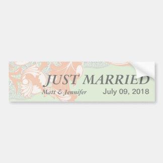 Elegant Classy Florals - Green, Apricot, Pistachio Bumper Sticker
