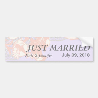 Elegant Classy Florals - Lavender, Pink, Blush Bumper Sticker
