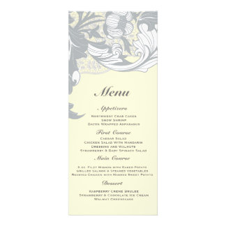 Elegant Classy Florals - Sand, Yellow, Gray Custom Announcement
