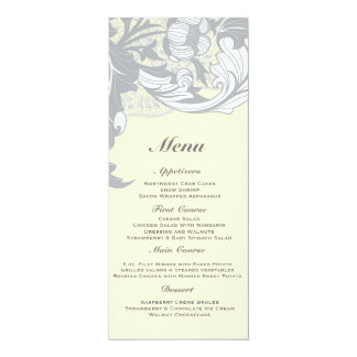 Elegant Classy Florals - Sand, Yellow, Gray Custom Announcement