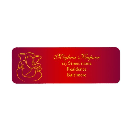 Elegant Classy Ganesh/ Indian God Address Labels
