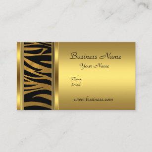 Animal print business cards business card printing zazzle uk elegant classy gold black animal print business card colourmoves