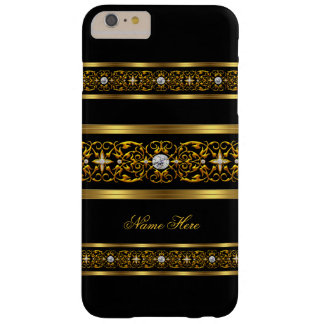 Elegant Classy Gold Black Diamond Barely There iPhone 6 Plus Case