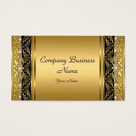 Elegant Classy Gold Black Diamond Business Card