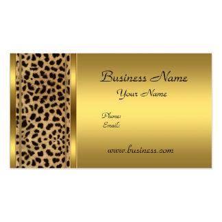Elegant Classy Gold Black Leopard animal print Pack Of Standard Business Cards