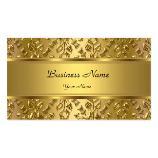 Elegant Classy Gold Damask Embossed Look Pack Of Standard Business Cards