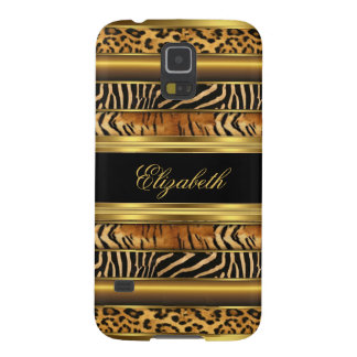 Elegant Classy Gold Mixed Animal Samsung Galaxy S5 Case For Galaxy S5