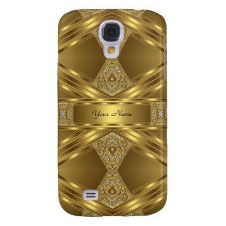 Elegant Classy Gold Pern Galaxy S4 Cases