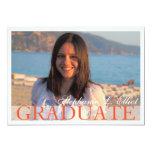 Elegant classy graduation portrait invitation