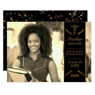 Elegant Classy Nursing | Medical School Graduation 13 Cm X 18 Cm Invitation Card