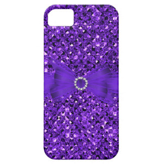 Elegant Classy Purple silver Glitter Look iPhone 5 Cover