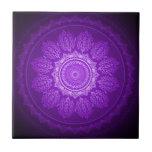 Elegant Classy Purple Swirl Decorative Pattern Ceramic Tile