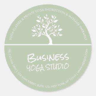Elegant Classy Tree Yoga Meditation Instructor Classic Round Sticker