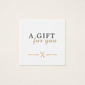 Elegant Clean Faux Gold Scissors Gift Certificate