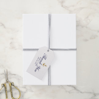 elegant Clean Nautical White Thank You Gift Tags