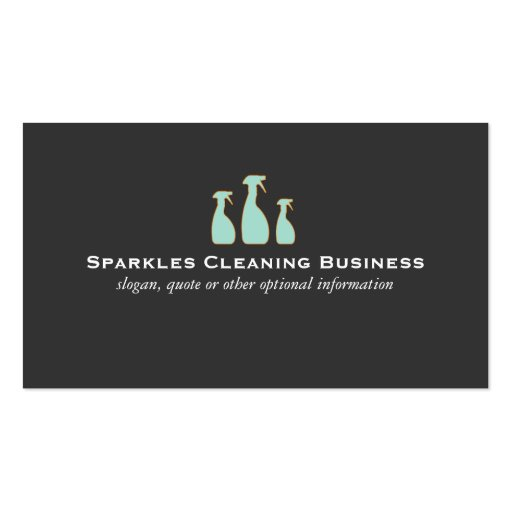 Create Your Own Cleaner Business Cards