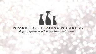 Cleaning business cards zazzle uk elegant cleaning service white bokeh business card reheart Image collections