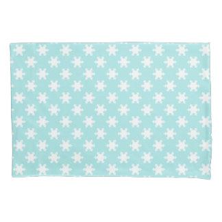 elegant clear Christmas snowflakes pattern blue Pillowcase