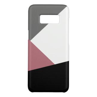 elegant clear dusty pink, black, grey geometrics Case-Mate samsung galaxy s8 case