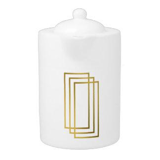 elegant clear faux gold geometric rectangles