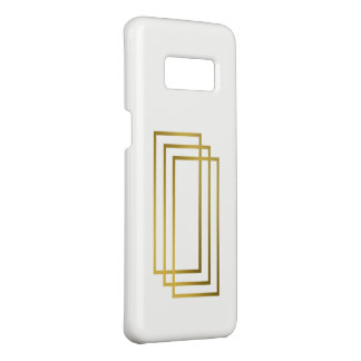 elegant clear faux gold geometric rectangles Case-Mate samsung galaxy s8 case