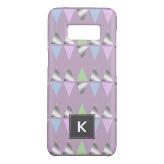 elegant clear faux silver geometric triangles Case-Mate samsung galaxy s8 case