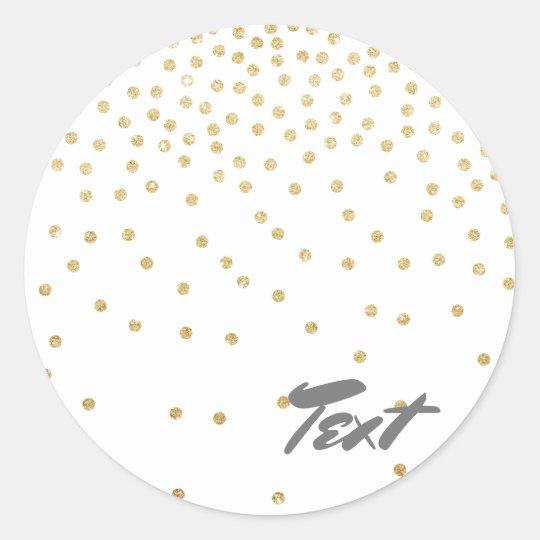elegant clear gold glitter confetti dots pattern classic