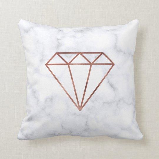elegant clear rose gold foil diamond white marble