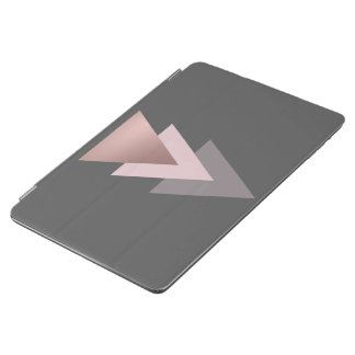 elegant clear rose gold foil geometric triangles iPad air cover