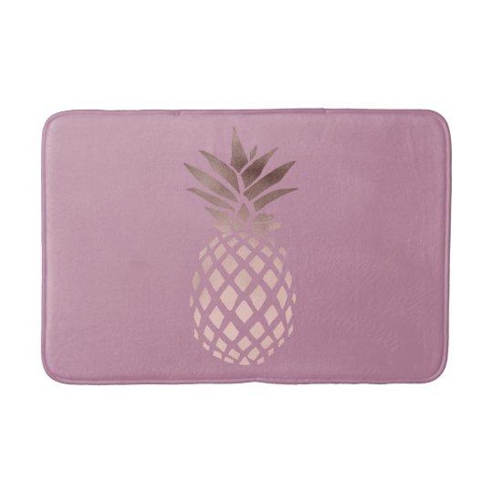 elegant clear rose gold foil tropical pineapple bath
