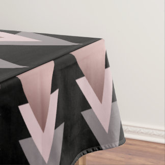 elegant clear rose gold geometric triangles tablecloth