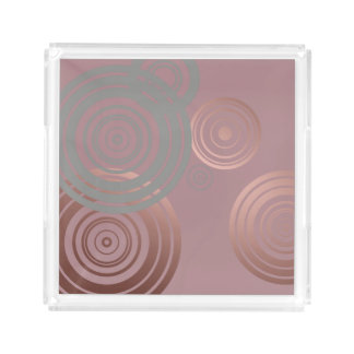 elegant clear rose gold grey geometric circles