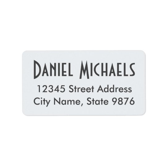Elegant Clear White Custom Address Label