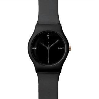 elegant clock numbers watch
