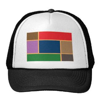Elegant Color Collage n Gold line Border Trucker Hat