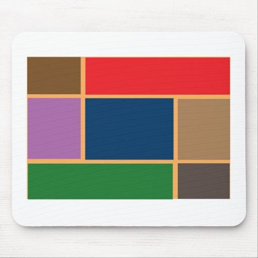 Elegant Color Collage n Gold line Border Mouse Pads