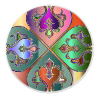 Elegant Colorful Arabesque Abstract Personalized Ceramic Knob