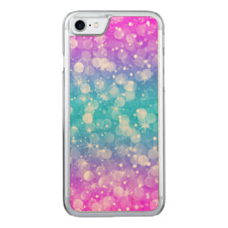 Elegant colorful bokeh glitter carved iPhone 8/7 case