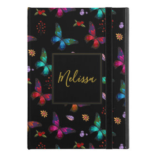"Elegant Colorful Butterflies on Black iPad Pro 9.7"" Case"