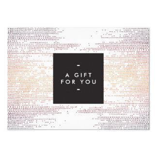 Elegant Colorful Confetti Dots Gift Certificate 11 Cm X 16 Cm Invitation Card