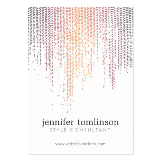 Elegant Colorful Confetti Dots on White Large Pack Of Chubby Business Cards