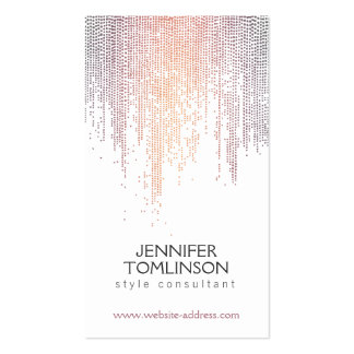 Elegant Colorful Confetti Dots on White Pack Of Standard Business Cards