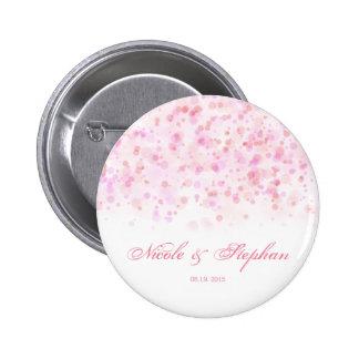 Elegant Colorful Confetti Ink Dots 6 Cm Round Badge