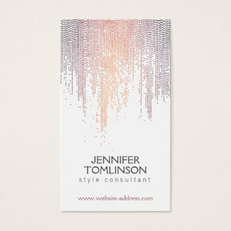 Elegant Colorful Confetti Rain Pattern