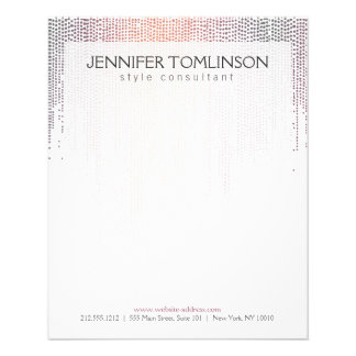Elegant Colorful Confetti Rain Pattern 11.5 Cm X 14 Cm Flyer