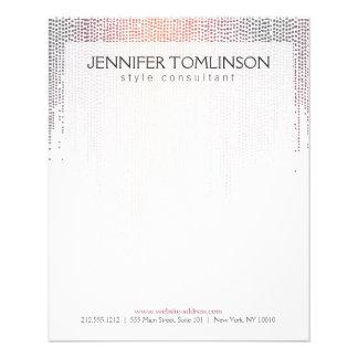 Elegant Colorful Dot Pattern on White Flyer