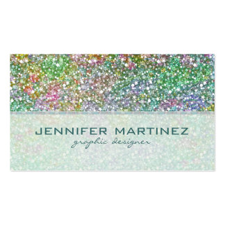 Elegant Colorful Glitter Texture-Green Overtones Pack Of Standard Business Cards
