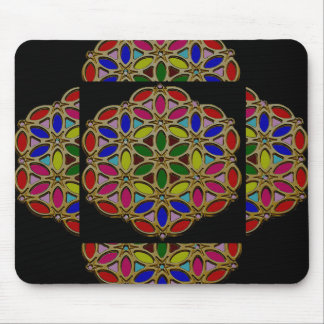 Elegant Colorful Jewel Necklace Pendent design fun Mouse Pad