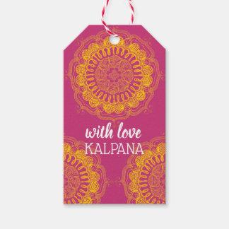 Elegant & Colorful Mandala Personalized Gift Tag